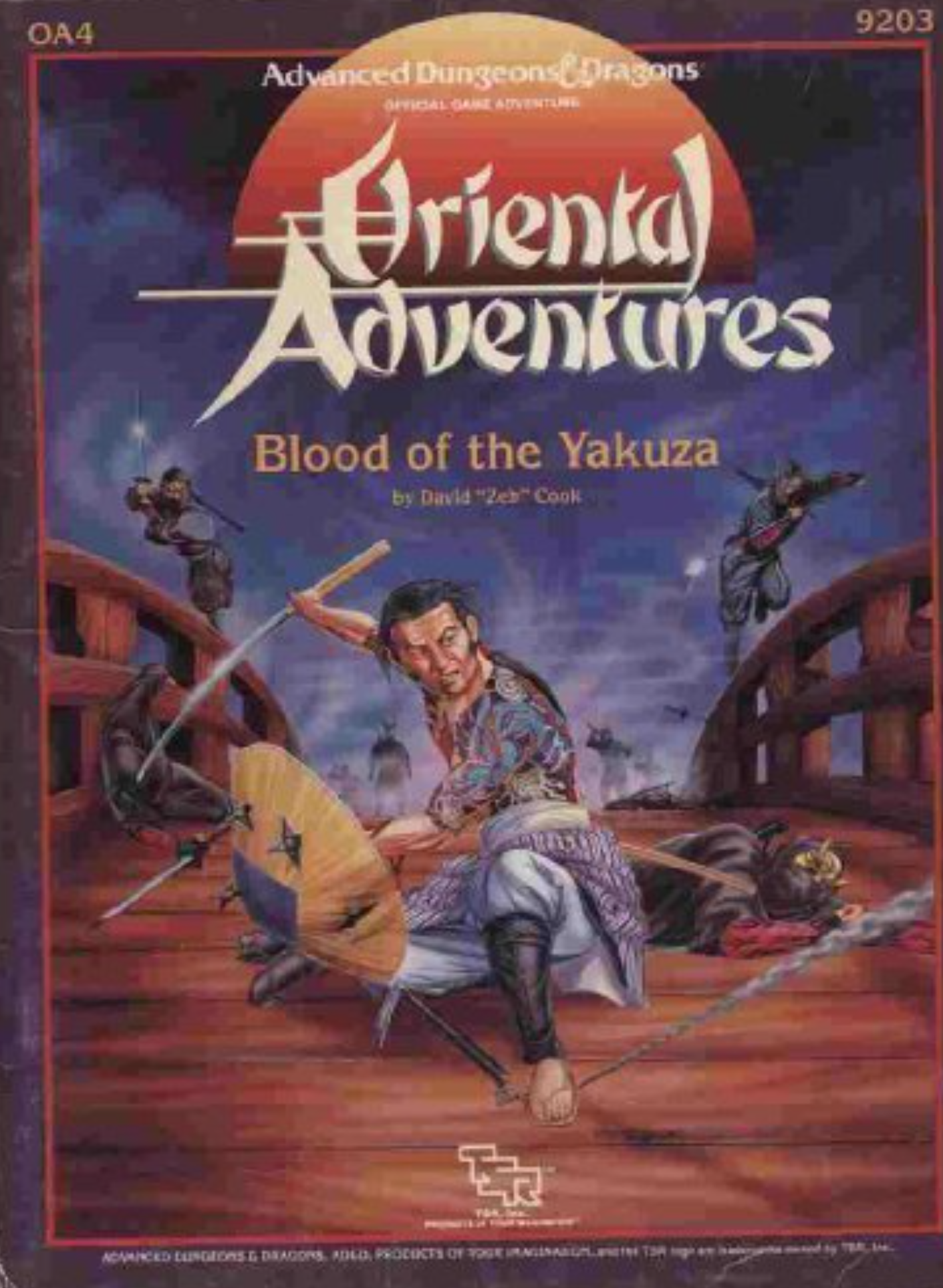 Image for Blood of the Yakuza (Advanced Dungeons & Dragons/Oriental Adventures Module OA4)